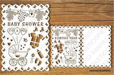 Baby Shower Boy card SVG files.