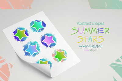Summer stars. Abstract elements.