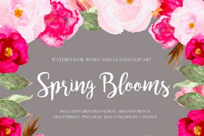 Spring Blooms Clip Art