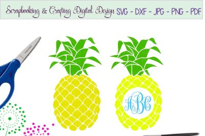 Pineapple svg craft cutting file