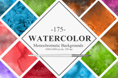 Monochromatic Watercolor Backgrounds