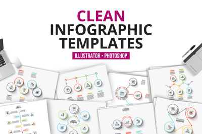 Clean infographic templates