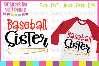 Baseball svg, Baseball Sister, SVG, DXF, Cut file