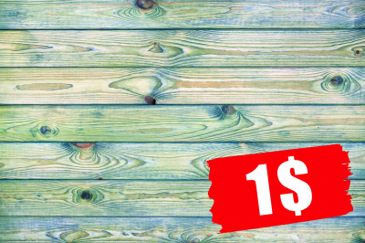 Blue and green wooden background
