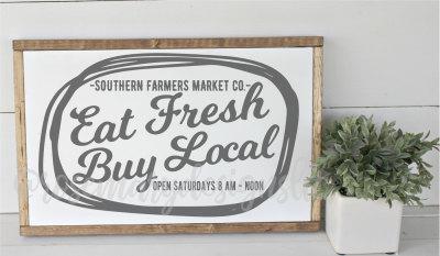 Eat Fresh Buy Local SVG
