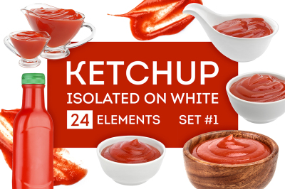 Ketchup isolated on white background