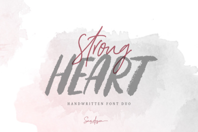 Strong Heart - Font Duo