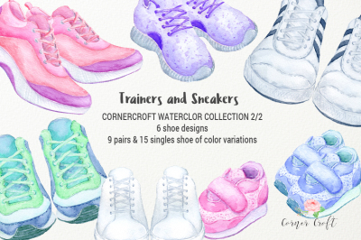 Watercolor Trainers and Sneakers Collection