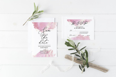 Save the date & RSVP templates