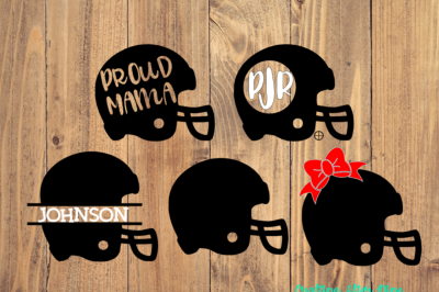 Football Helmet Bundle Svg