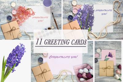 Greeting Card Mock Ups