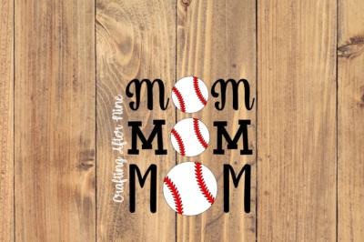 Mom with Baseball