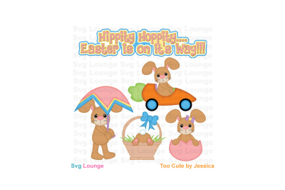 Easter is Coming SVG Cut File