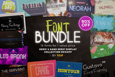 Font Bundle with Value Price