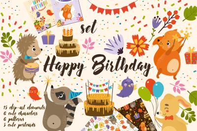 Set Happy Birthday for kid