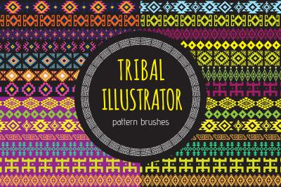 Tribal Illustrator Pattern Brushes
