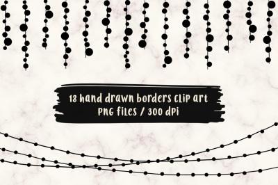 Hand Drawn Borders Clip Art