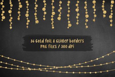 Gold Borders Clip Art