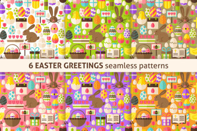 Easter Greetings Flat Tile Patterns