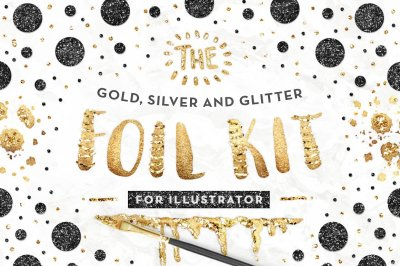 The Gold Foil Kit Essentials + Bonus - ILLUSTRATOR Version