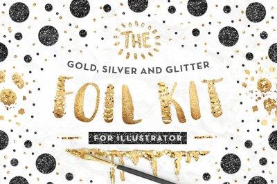 The Gold Foil Kit Essentials + Bonus - ILLUSTRATOR Version