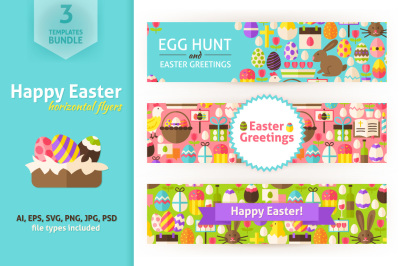 Happy Easter Horizontal Flyers