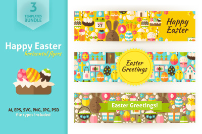 Easter Greeting Horizontal Flyers