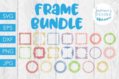 Monogram Frame Bundle, SVG Bundle, SVG Files, Frame SVG, SVG Cut File
