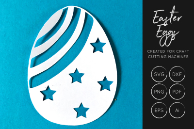 Easter Egg SVG Cut File - Easter cut file