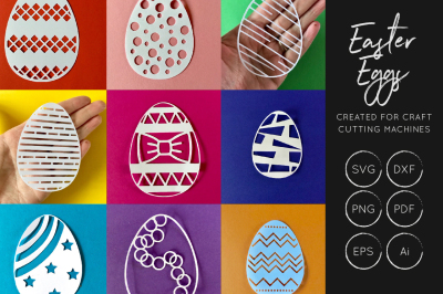 Easter svg bungle - easter eggs cut file