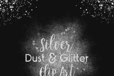 Silver Dust & Glitter Clip Art