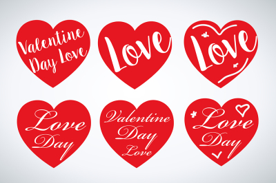 Set of valentines hearts