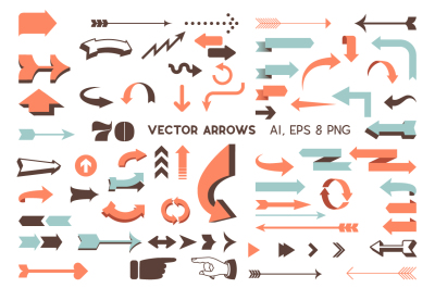 Vector Arrows Set - Retro and Modern