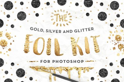 The Gold Foil Kit Essentials + Bonus - PHOTOSHOP Version