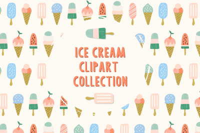 Ice Cream Clipart Eps&Png