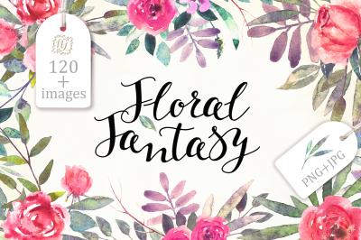 Watercolor Floral Fantasy