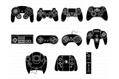 Game Controller SVG files, for Silhouette Cameo and Cricut.