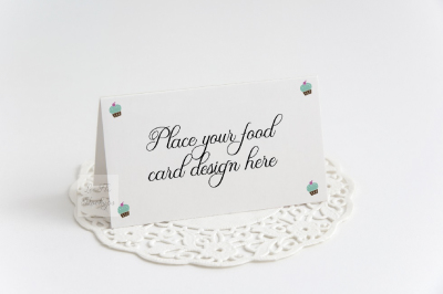 Table food mockup guest tent card psd mock up buffet stationery mockup