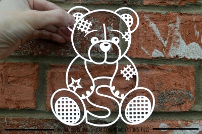Download Teddy Bear Letter S Paper Cut Svg Dxf Eps Files Free Free 655443 Svg Download Design Cutting Files