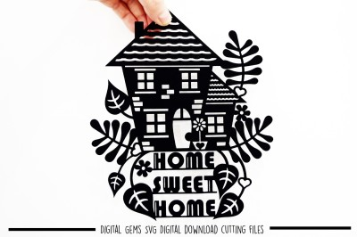 Home Sweet Home Paper Cut SVG / DXF / EPS Files