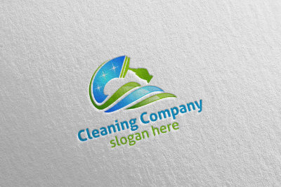 Cleaning Services Vector Logo Design