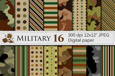 Military Digital paper / Army patterns / Camouflage backgrounds
