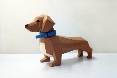 DIY Dachshund Puppy - 3d papercraft