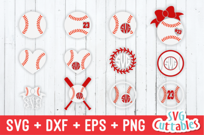 Baseball / Softball Monogram Frames