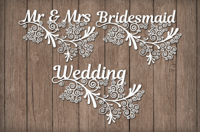 Wedding Friezes floral SVG files for Silhouette Cameo and Cricut.