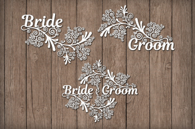 Friezes Wedding SVG files for Silhouette Cameo and Cricut.