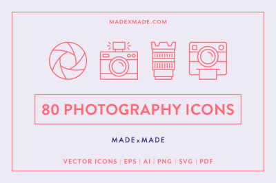 Line Icons – Photography
