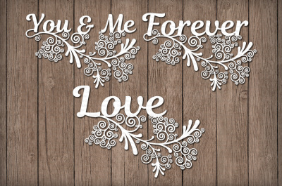 Friezes, You & Me, Forever, Love, SVG Files