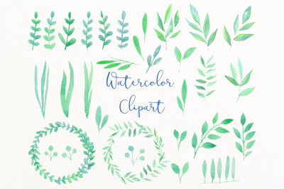 Greenery wedding clipart