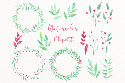 Invitation watercolor clip art